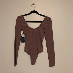 Wilfred Free Body Suit Mauve long Sleeves S